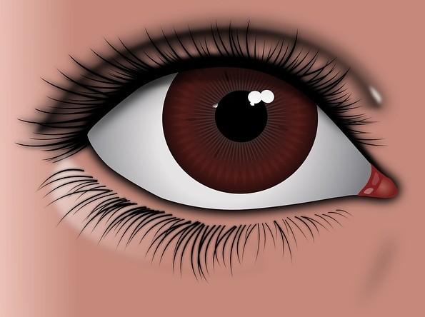 Глаз с ресницами. Наращивание нижних ресниц