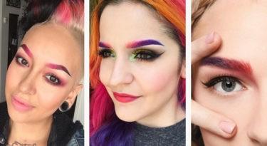 как красить брови